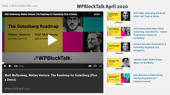 WP Block Talk
