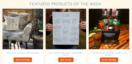 Featured products on Fort Collins Marketplace