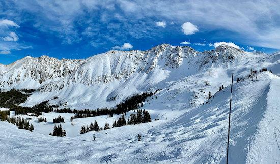 Snowy ski slopes of A-Basin