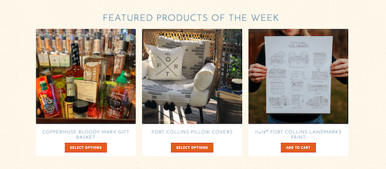 Fort Collins Marketplace featured products