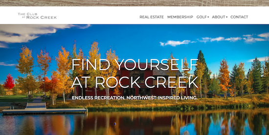 Homepage for The Club at Rock Creek