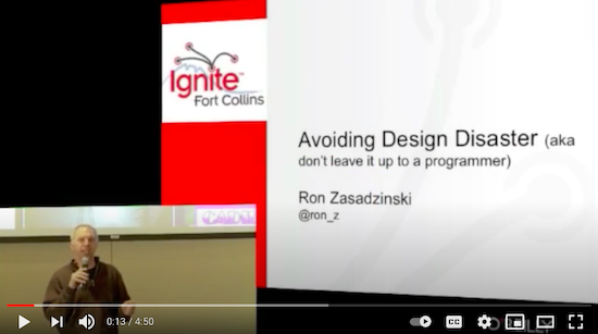 Ron during his Ignite Fort Collins presentation