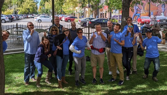 The CodeGeek team in a park