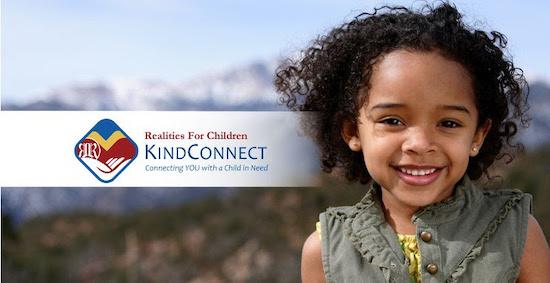 KindConnect logo next to smiling child