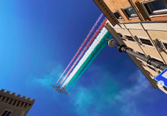 Planes fly for Italy's Republic Day