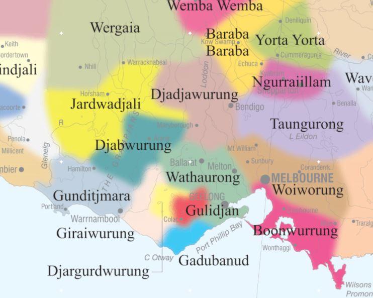 Map of Gunditjmara Country