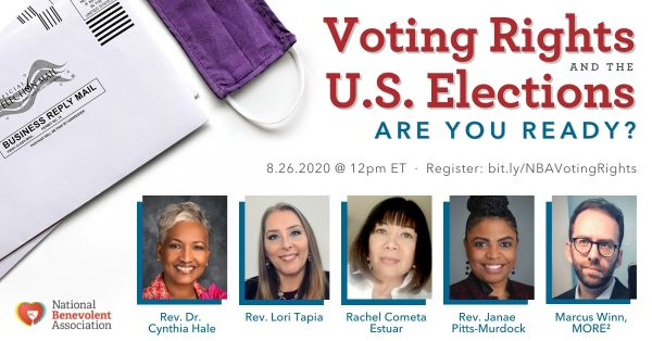 Voting Rights and the US Elections -- Panel Webinar on August 26, 2020