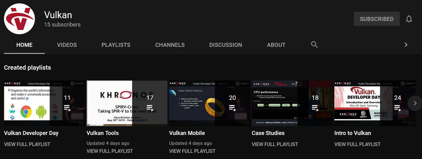 Vulkan YouTube