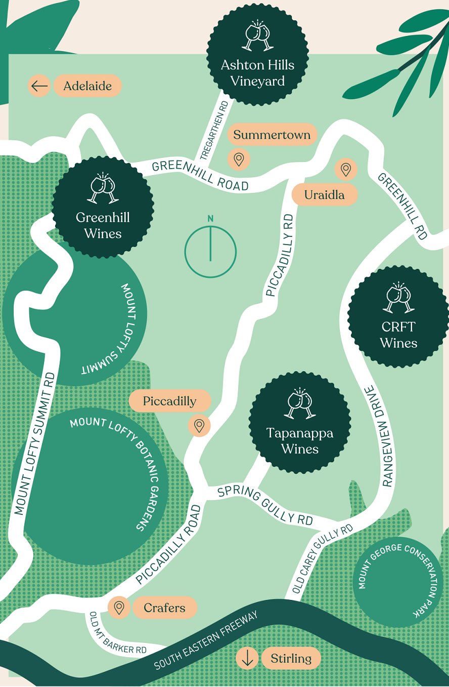 The Piccadilly Trail map.