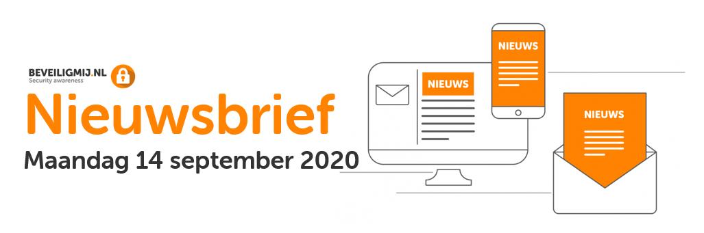 BeveiligMij.nl Nieuwsbrief | Maandag 14 september 2020