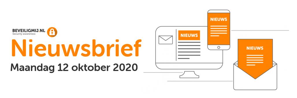 BeveiligMij.nl Nieuwsbrief | Maandag 12 oktober 2020