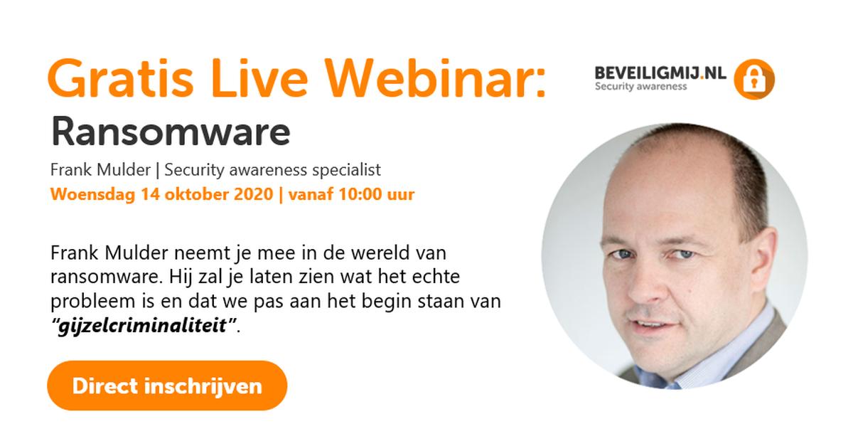 Gratis Live Webinar: Ransomware | BeveiligMij.nl