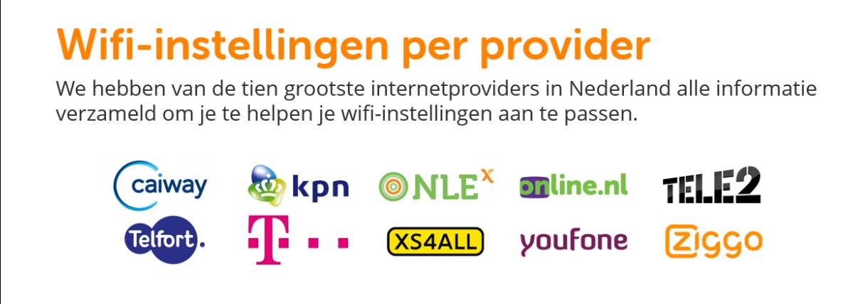 Wifi-instellingen per provider | BeveiligMij.nl