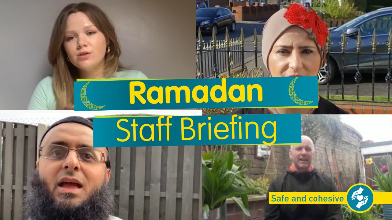 Ramadan Staff Briefing - Muslim colleagues on a zoom call