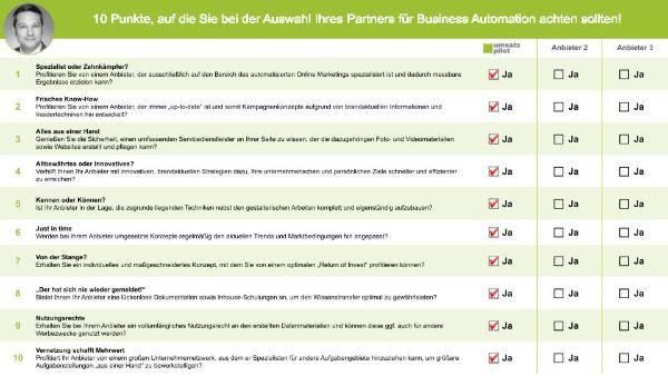 Worauf Sie bei der Auswahl Ihres Partners für Business Automation achten sollten!