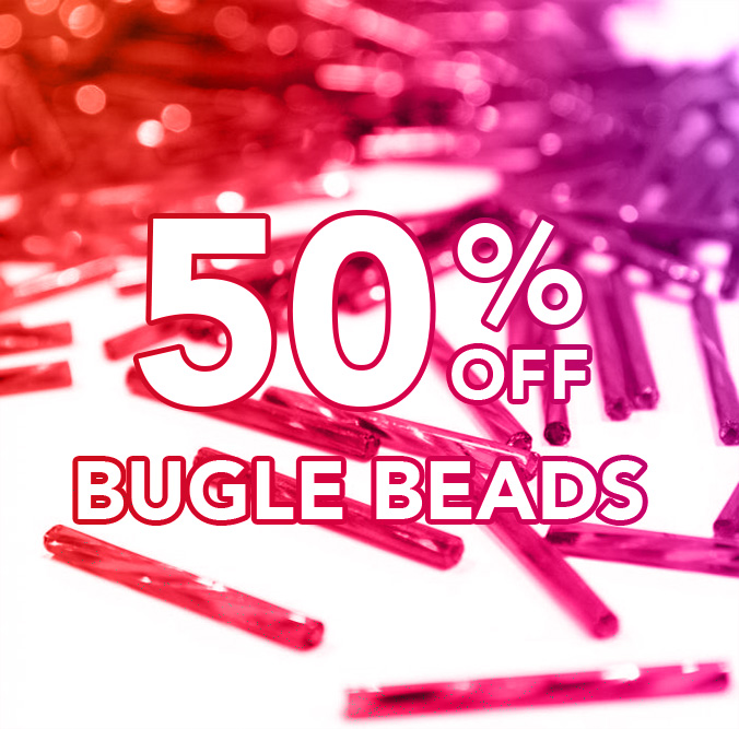 50% off Bugle Beads