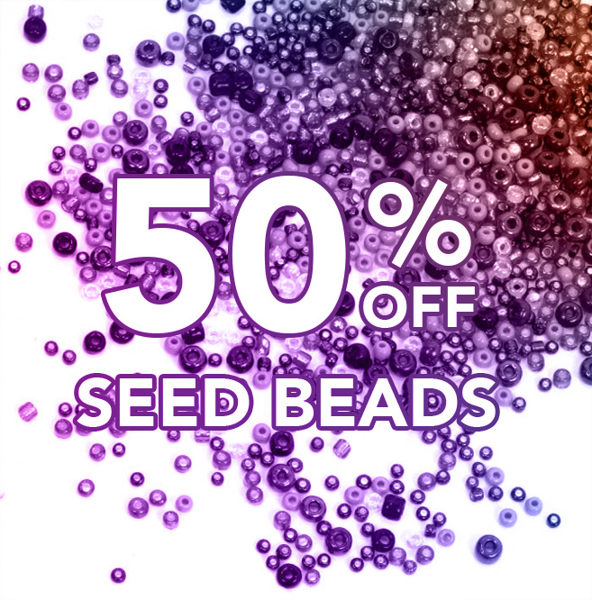 50% off Seed Beads