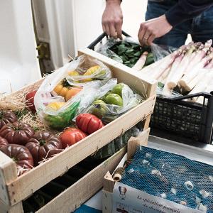 Livraison de légumes pour un restaurant