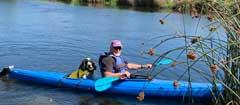 Max and Blair in the kayak