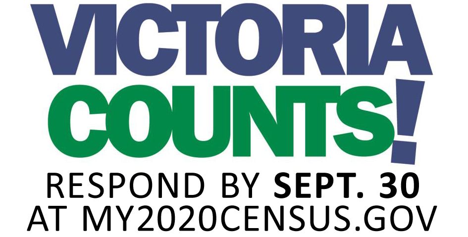 Victoria Counts! Respond by Sept. 30 at my2020census.gov.