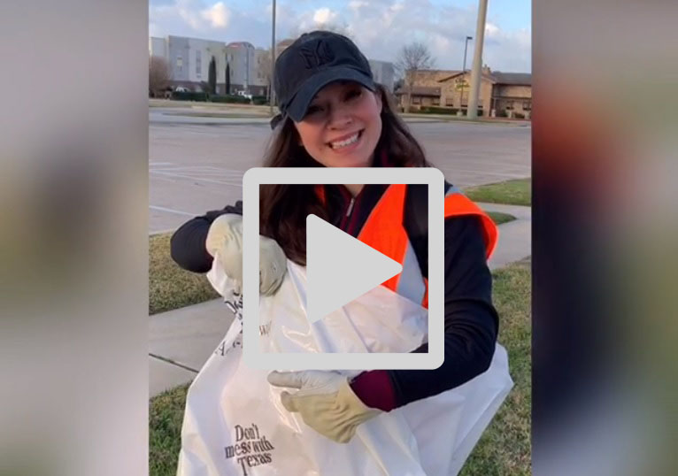 Adopt-a-Highway cleanup, don't mess with Texas