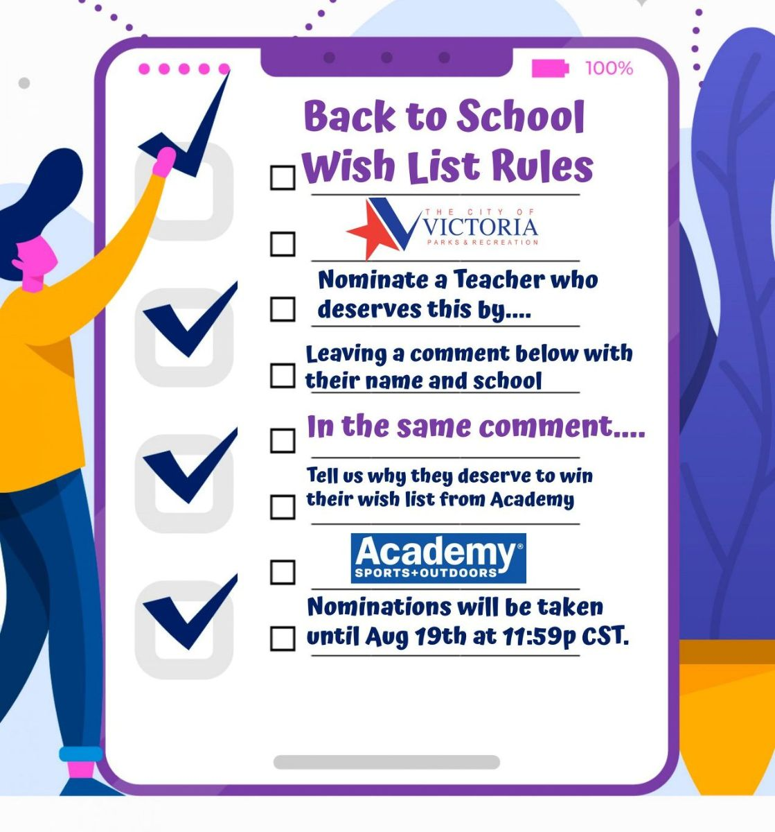 Back to School Wish List competition