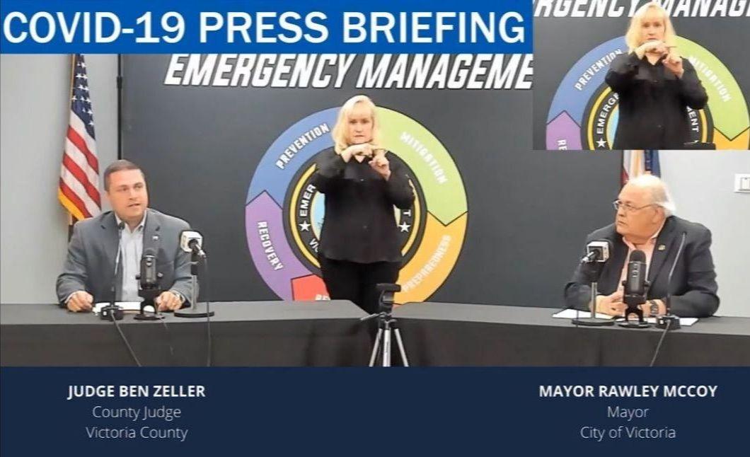 City leaders at press briefing
