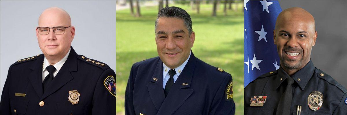 3 men in police uniforms