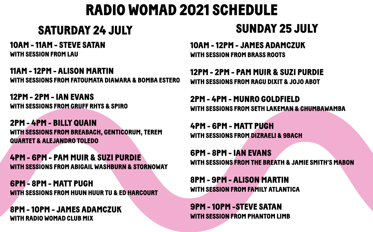 WOMAD: Listen live this weekend! 3