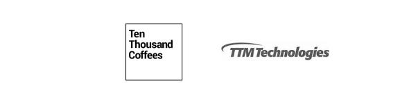 Ten Thousand Coffees and TTM Technologies logos.