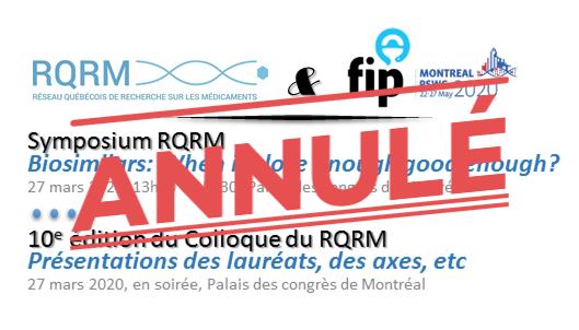 ANNULÉ: Symposium RQRM au PSWC2020