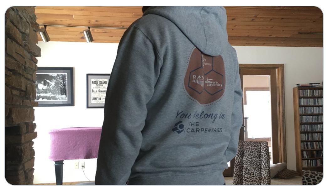 Stylin my new  @thecarpentries  sweatshirt