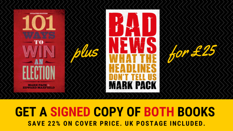 Book offer: Bad News and 101 Ways To Win An Election for £25