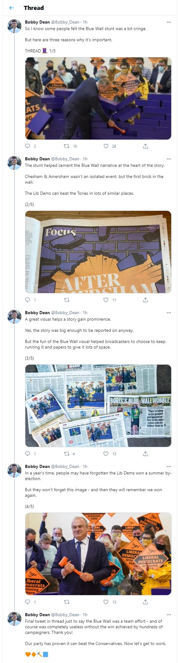 Bobby Dean explains the Blue Wall photo op
