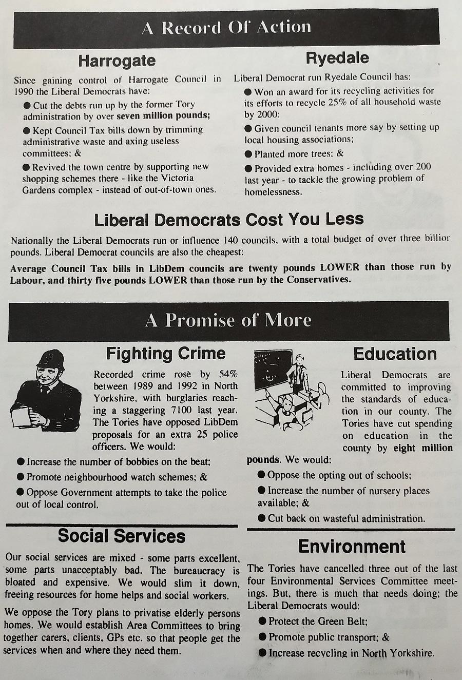 Mark Pack 1993 election leaflet back