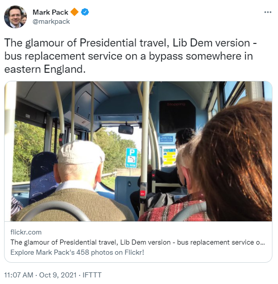 Mark Pack on a bus replacement service