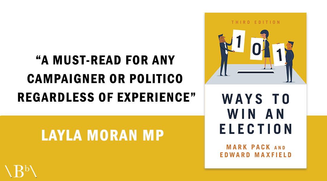 Layla Moran quote praising third edition of 101 Ways To Win An Election