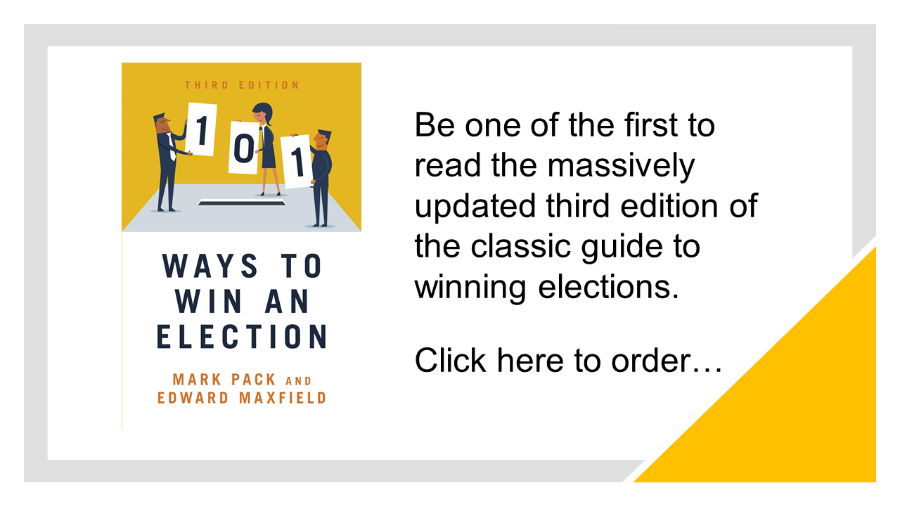 Order your copy of the third edition of 101 Ways To Win An Election