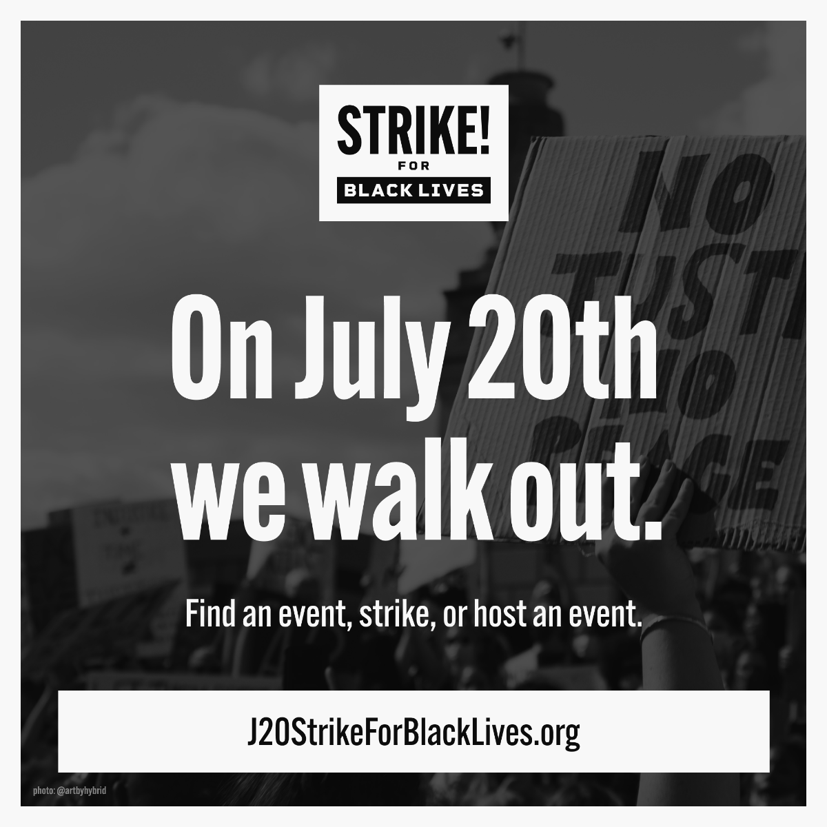 Image card for the strike for black lives