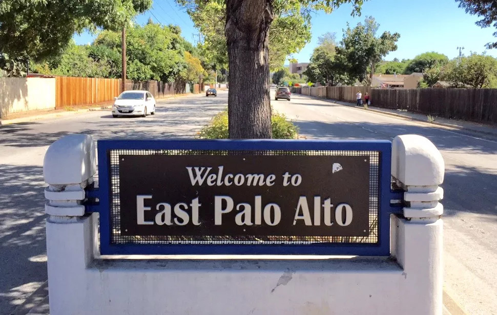 """Sign says """"Welcome to East Palo Alto"""""""