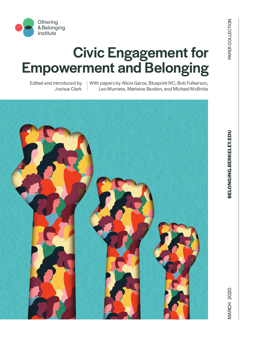 Cover of the new civic engagement paper collection