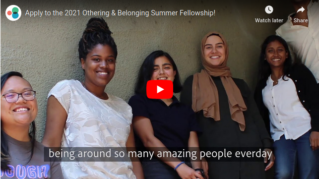 Image grab from our 2018 summer fellowship promo video showing 6 of the fellows