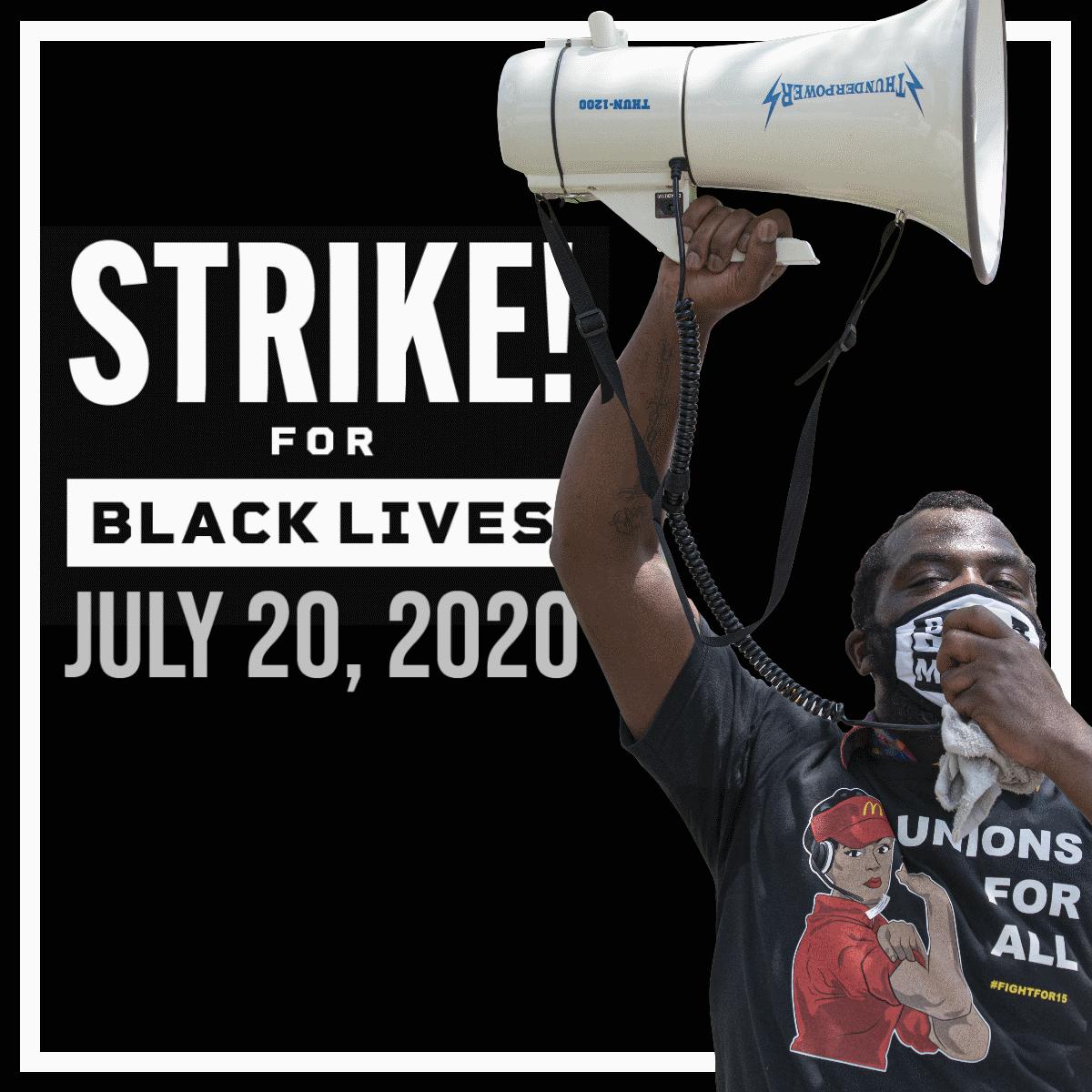 Image card Strike For Black lives