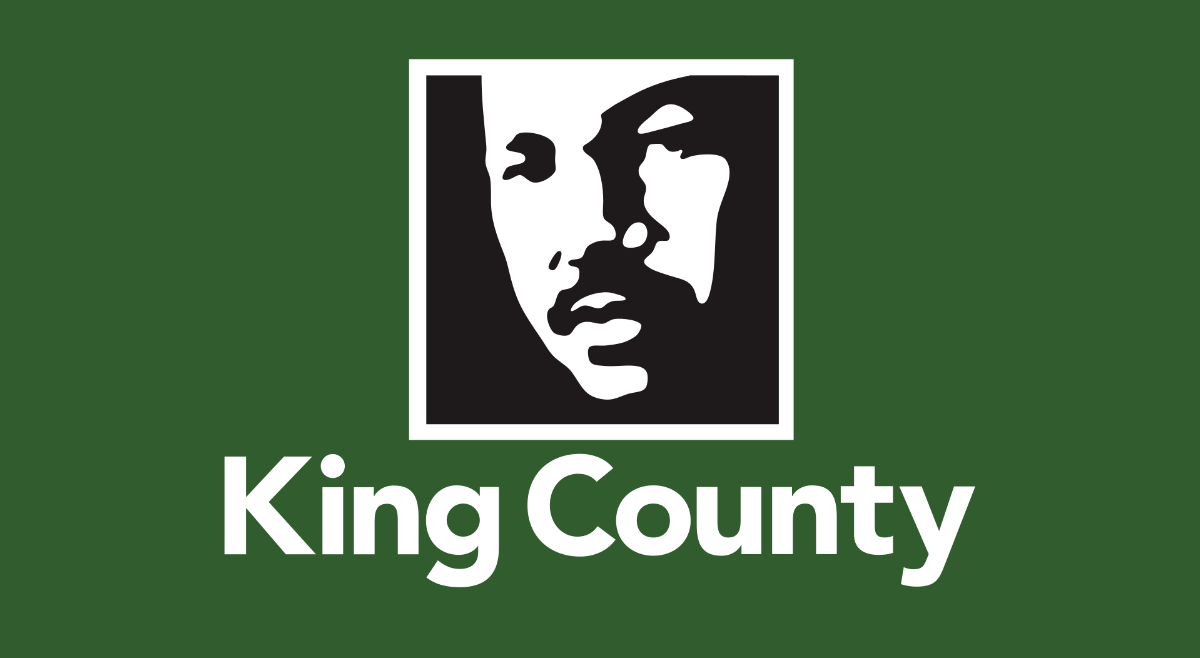 Flag of King County, WA, showing an image of MLK