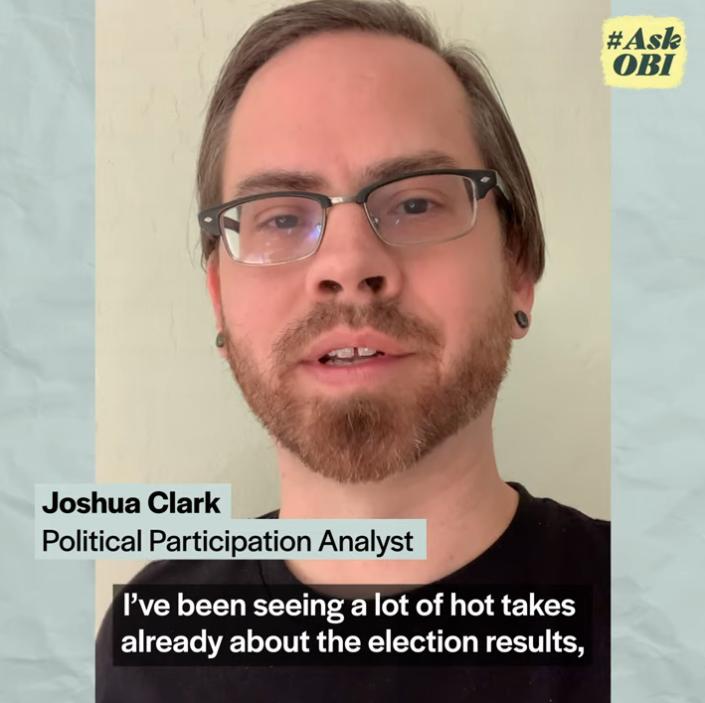 image grab shows Josh Clark