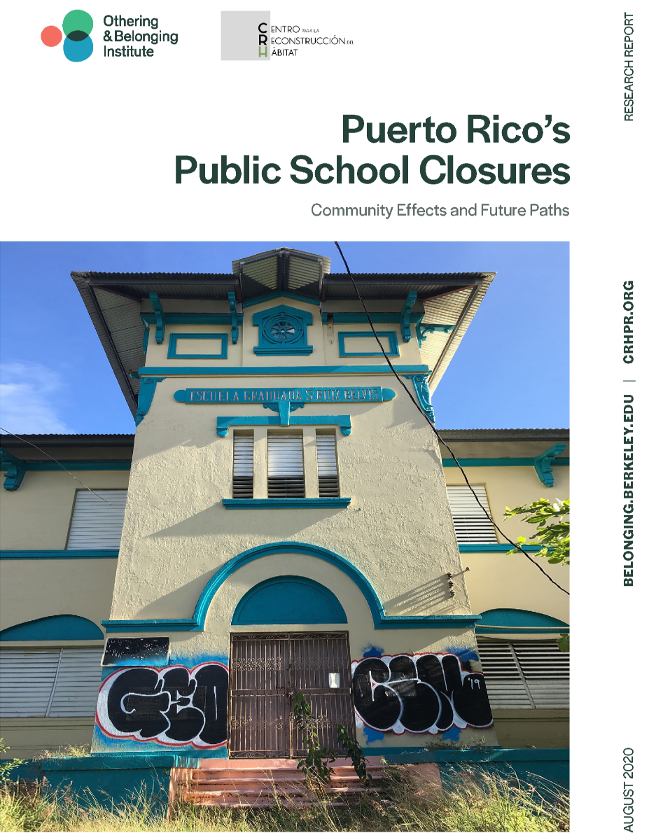 Cover of the Puerto Rico Report showing an abandoned school in Puerto Rico