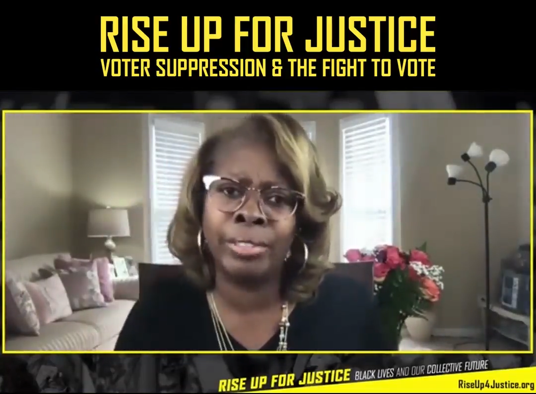 Image grab from this Rise Up event shows LaTosha Brown