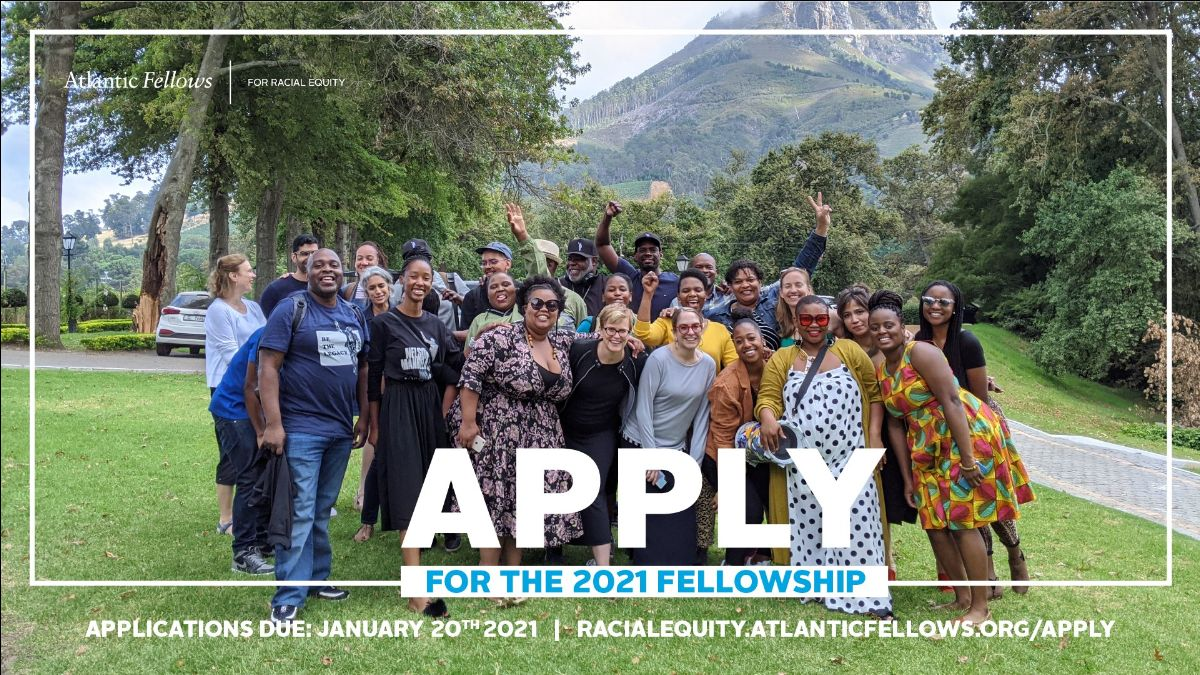 Image shows past AFRE fellows in South Africa
