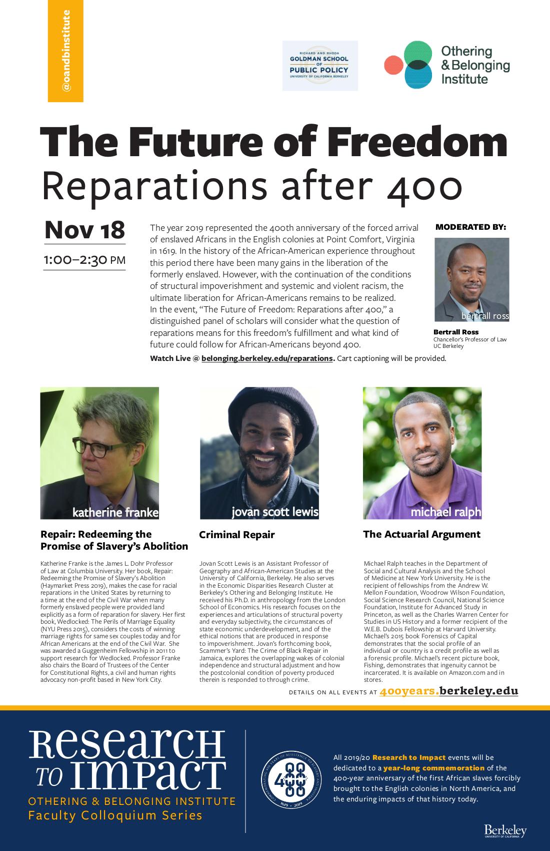 reparations flier