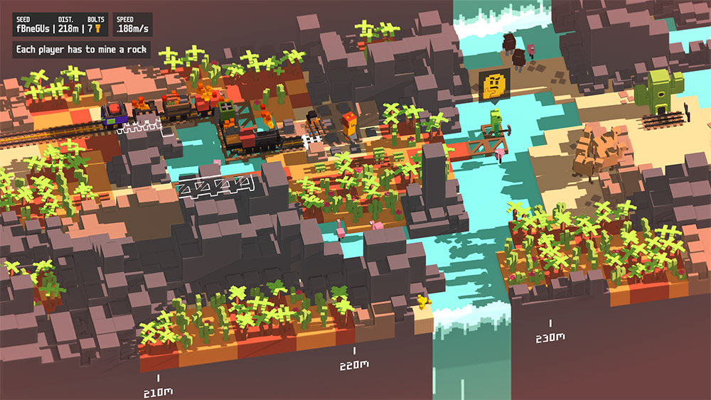 Una imagen del juego Unrailed!